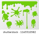 dripping slime. green goo... | Shutterstock .eps vector #1165510582