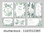 eucalyptus design. wedding... | Shutterstock .eps vector #1165512385