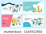 set of web page design... | Shutterstock .eps vector #1165512502