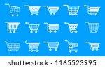 shop cart icon set. simple set...   Shutterstock . vector #1165523995