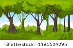 caertoon summer forest... | Shutterstock .eps vector #1165524295