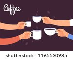 drinking coffee concept.... | Shutterstock .eps vector #1165530985
