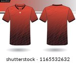 sports jersey template for team ... | Shutterstock .eps vector #1165532632