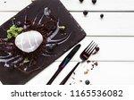 exquisite restaurant mousse... | Shutterstock . vector #1165536082