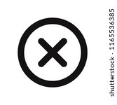 close vector icon. delete ...   Shutterstock .eps vector #1165536385