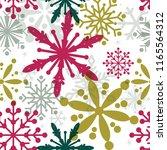 seamless christmas background...   Shutterstock .eps vector #1165564312