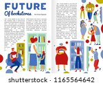 future of book store... | Shutterstock .eps vector #1165564642