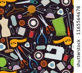 seamless pattern of tools for... | Shutterstock .eps vector #1165564678
