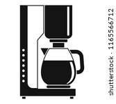 coffee maker icon. simple... | Shutterstock . vector #1165566712