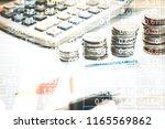 stock market graph chart. the...   Shutterstock . vector #1165569862