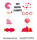 infographic elements  annual... | Shutterstock .eps vector #1165571992