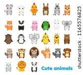 cute animals. big set of... | Shutterstock .eps vector #1165576825