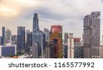 aerial view of chinatown and... | Shutterstock . vector #1165577992