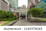 skyscraper towers at raffles... | Shutterstock . vector #1165578265