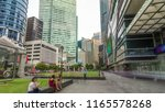 skyscraper towers at raffles... | Shutterstock . vector #1165578268