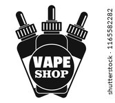 vape liquid shop logo. simple... | Shutterstock . vector #1165582282