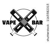 modern vape bar logo. simple... | Shutterstock . vector #1165582315