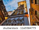 lisbon  santa justa elevator... | Shutterstock . vector #1165584775