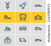 illustration of 12 transit... | Shutterstock . vector #1165585912