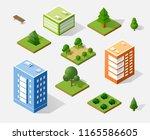 isometric 3d trees forest park...   Shutterstock . vector #1165586605