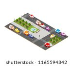 city isometric 3d intersection... | Shutterstock . vector #1165594342