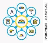 illustration of 9 industry... | Shutterstock . vector #1165596658