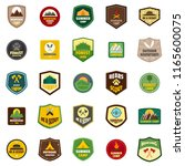 scout badge emblem stamp icons... | Shutterstock . vector #1165600075