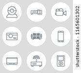 illustration of 9 hardware... | Shutterstock . vector #1165601302