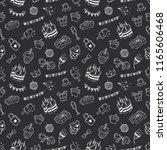 birthday celebration icons in... | Shutterstock .eps vector #1165606468