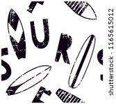 surf seamless pattern.surfboard ... | Shutterstock .eps vector #1165615012