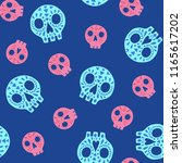 seamless halloween pattern.... | Shutterstock .eps vector #1165617202