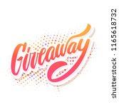 giveaway banner. vector... | Shutterstock .eps vector #1165618732