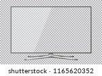 smart tv mockup. blank... | Shutterstock . vector #1165620352