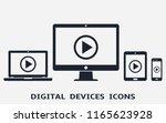 smart phone  tablet  laptop and ... | Shutterstock . vector #1165623928