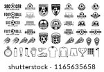 set of vector football  soccer  ... | Shutterstock .eps vector #1165635658