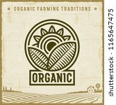 vintage organic label | Shutterstock . vector #1165647475