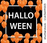 vector frame with orange... | Shutterstock .eps vector #1165649005