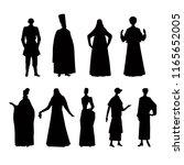 costume story  silhouette on... | Shutterstock .eps vector #1165652005