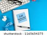1st september. image of... | Shutterstock . vector #1165654375