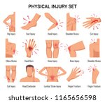 human body parts physical... | Shutterstock .eps vector #1165656598