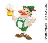 octoberfest beer man | Shutterstock .eps vector #1165659682