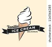 vanilla ice cream vintage retro ... | Shutterstock .eps vector #116566285