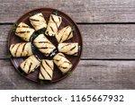 grilled eggplant   aubergine  ... | Shutterstock . vector #1165667932
