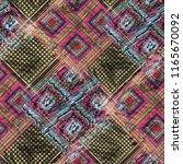seamless pattern patchwork... | Shutterstock . vector #1165670092