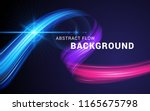 modern colorful flow abstract... | Shutterstock .eps vector #1165675798