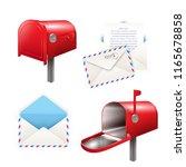 set of realistic postal... | Shutterstock .eps vector #1165678858