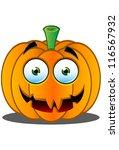 jack o' lantern pumpkin face  ... | Shutterstock .eps vector #116567932