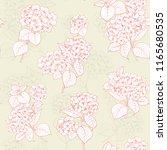 flower pattern of hydrangea... | Shutterstock .eps vector #1165680535