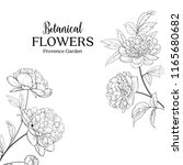 botanical flowers garland. the... | Shutterstock .eps vector #1165680682