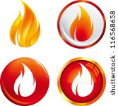 flame buttons | Shutterstock .eps vector #116568658